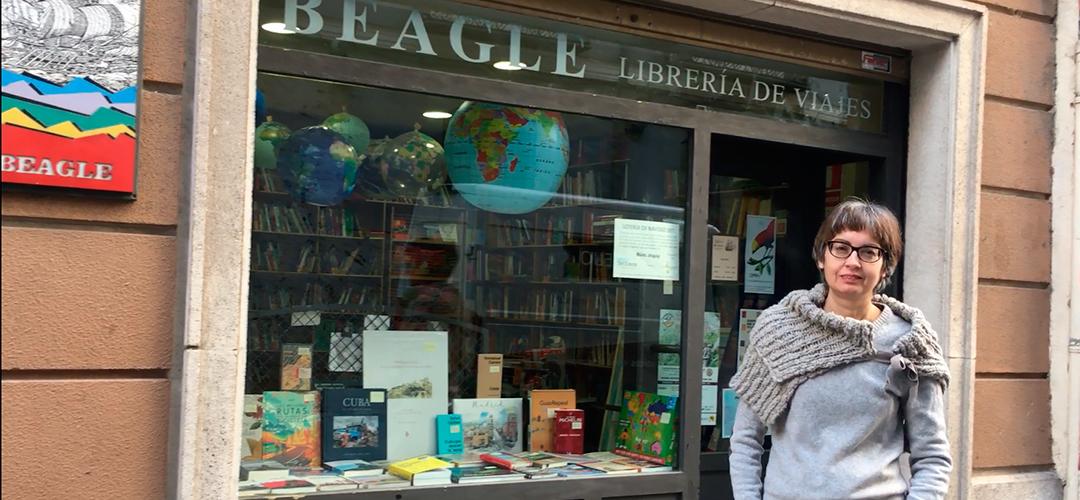 Belén González presenta Librería de viajes Beagle